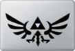A picture of the Zelda emblem