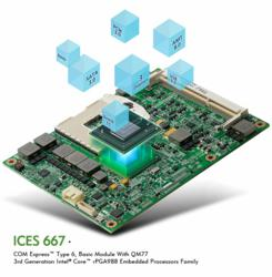 ICES 667 - COM Express™ Type 6, Basic Module With QM77 3rd Generation Intel® Core™ rPGA988 Embedded Processors Family