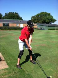 Wounded Veteran enjoys a day of golf