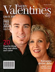 Valentine's Day Personalized Magazine Cover from YourCover