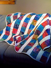 Nancy Lee Dunn is selling her homemade quilt to benefit the Sarcoma Alliance.