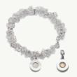 Heart Charm Bracelet, Memory Bracelet, Button Charm Bracelet, Button & Co., Celtic Promise