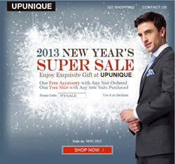 UPUNIQUE New Year Sale