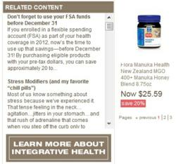 Pharmaca eCommerce site screen shot
