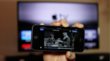 Tap AirPlay icon to instantly stream video from a QuikIO iPhone app to Apple TV.