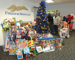 Salvation Army Donation - Freedom Mortgage 2012