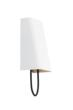 Tech Lighting's new Pull Large wall sconce with White shade and Black cord