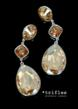 Crystal drop tr-166 earrings in Nude shades