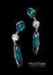 Linear drop earring tr-999 in Teal palette