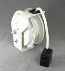 20 amp reel with 25' of 12/3 SEOW White Cable and duplex outlet box