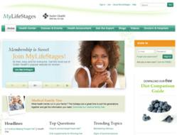 Sutter Health's website for women