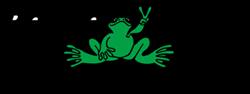 Peace Frogs 'live fun, do good, Logo