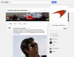 Vodafone McLaren Mercedes on Google+