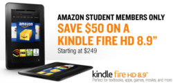 Amazon Kindle Fire HD 8.9 Discounted 50$ for Students