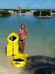 Zayak Sea Sleds were made available to the guests at beautiful Hawks Cay in the Florida Keys