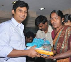 Actor Jiiva birthday celebration
