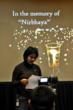 "Munmun Chatterjee reading out a message at the memorial service for ""Nirbhaya"" in seattle."