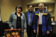 Rep. Marcie Maxwell with Debadutta Dash of WASITRAC and Professor K. V. Ramanathan of the University of Washington