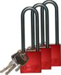 "New: Brady's Aluminum Padlock with 3"" Shackle"