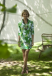 Winpenny Dress- Tobago in Chartreuse Green