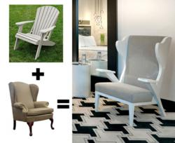 Illustration Showing Interior Designer Thomas Schoos Inspiration for Adirondack Wing Chair