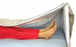 The SomniMax™ Blanket Lifter is a breakthrough patient comfort device