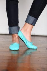 ballet shoes, ballet flats, ballet slippers, colored ballet shoes, colored ballet flats, turquoise ballet shoes