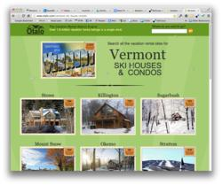 Vermont Ski House Rental Search