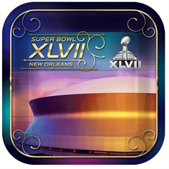 Super Bowl XLVII 7 Inch Plates from Windy City Novelties