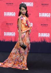 "Kerry Washington carries the Jill Milan Holland Park clutch to a premiere of her latest film, Quentin Tarantino's ""Django Unchained,"" in Berlin, Germany. (Photo: John MacDougall / AFP / Getty Images)"