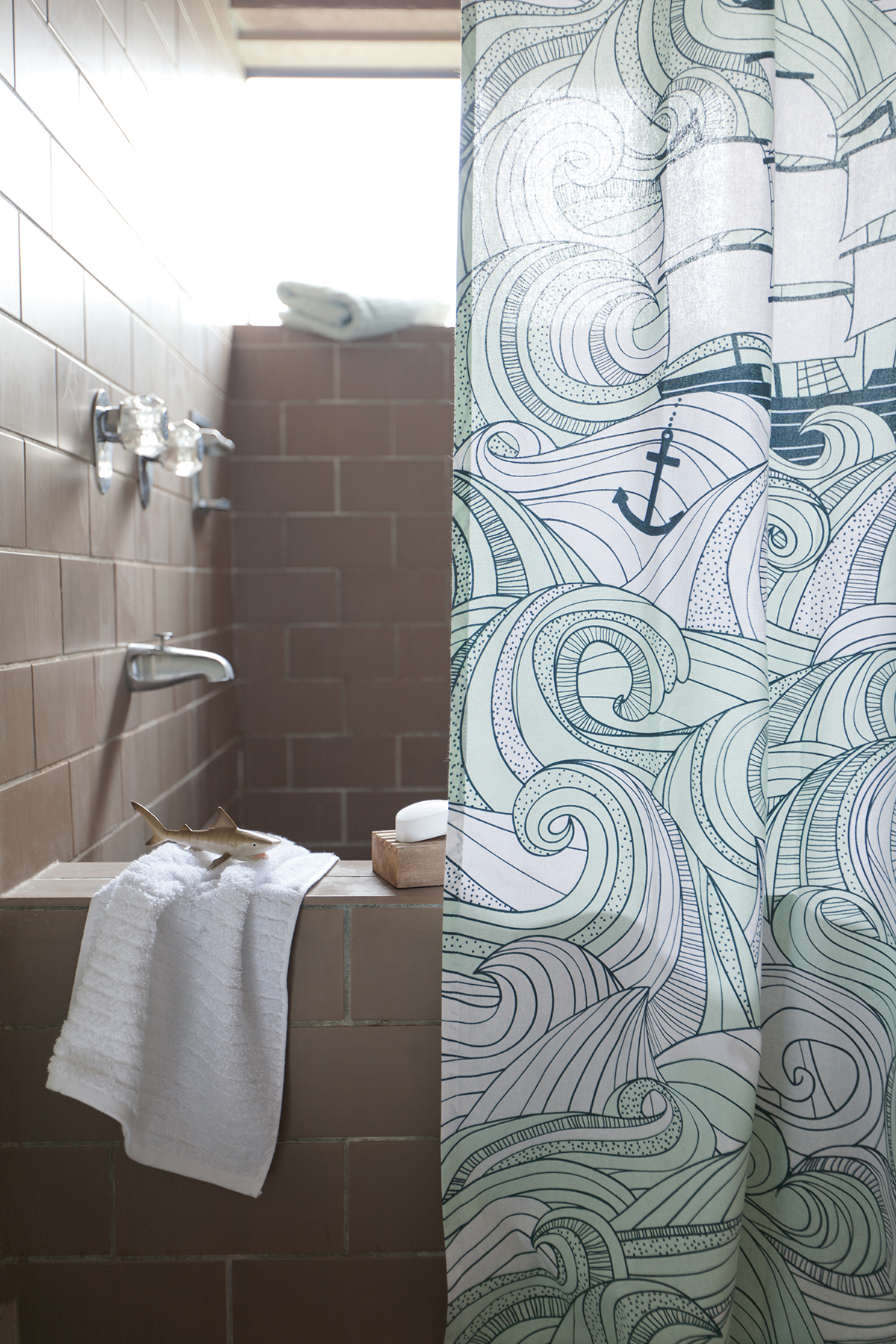 Ocean shower curtains - Danica Studio Odyssey Shower Curtainget Lost At Sea With The Detailed Swirls Of A Churning Aquamarine Ocean