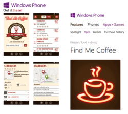 Find Me Coffee Windows Phone App