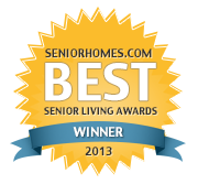SeniorHomes.com 2013 Best Senior Living Awards Badge