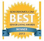 SeniorHomes.com 2013 Best Senior Living Awards Badge