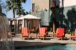 Pool and cabanas at the Hampton Inn Tropicana, Las Vegas