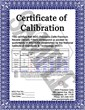 Sample NSG Calibration Certificate