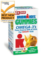 Best New Product Winner IronKids Omega 3 2x DHA