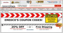 Emedco coupon code page