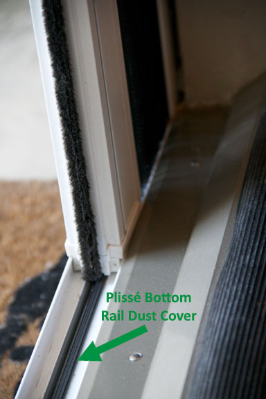 Pliss retractable screens now offering bottom rail dust cover for Retractable screen solutions