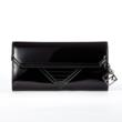 Jill Milan Chelsea Evening Clutch in black faux patent