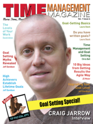Craig Jarrow on the cover of Time Management Magazine