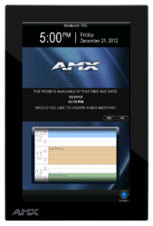 AMX RMS Enterprise Scheduling Feature Being Displayed on AMX Modero  X Series MXD-700