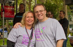 Dr. Greg Foltz and CEF President Dellann Elliott, working together to end brain cancer