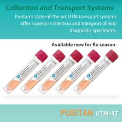 gI 110128 puritan  UTM Puritan Announces UTM RT Transport System Products Availability Despite Increased Demand Caused by Worst Flu Season in a Decade