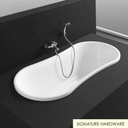 65&quot; Lucah Acrylic Drop-In Air Bath Tub