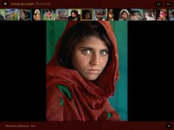 A screenshot from the iPad Application PORTRAITS by Steve McCurry