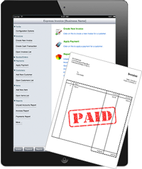 New Express Invoice iPad Invoicing Application