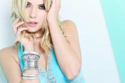 Ashley Benson in Faviana dress