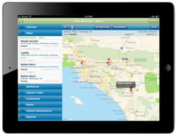 iPad GPS Fleet Tracking App