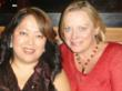 Sex trafficking survivor and activist Chong Kim with the Global Women's Empowerment Network's (GWEN) co-founder and COO Tess Cacciatore.